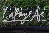 Logo of the Galerie Lafayette store, Friedrichstrasse, Berlin, Germany, Europe