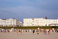 Sea front, Borkum, East Frisian Islands, East Frisia, Lower Saxony, Germany, Europe