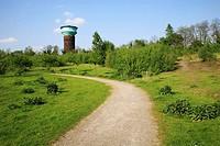 Germany, Oberhausen, Ruhrgebiet, Nordrhein-Westfalen, NRW, Oberhausen-Neue Mitte, ehemaliger Wasserturm der GHH, Gutehoffnungshuette, heute Buerogebae...