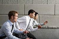 Competitive businessmen