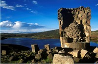 Kolla cemetery at Sillustani. Lake Umayo. Peru