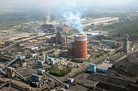 aerial view of the Mittal Steele in Lazaro Cardenas
