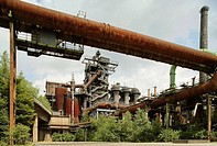 Old Thyssen coal and steel production plant, Landschaftspark, Duisburg Nord, Germany
