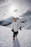 Boy at ski resort