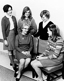Nancy Roman born 1925, US astronomer, sitting with students from Sullins science club. Nancy Grace Roman worked at NASA from 1959 to 1979, where she w...