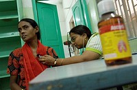 Dr. Roy is a self-employed medical doctor in Howrah specialising in TB or tuberculosis, treating a patient in the St. Thomas' Homes Clinic, a speciali...