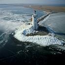 Lighthouse Het Paard van Marken, Markermeer, Marken, North Holland, The Netherlands, Holland, Europe
