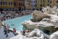 Fontana di Trevi, Trevi Fountain, Rome, Latium, Italy