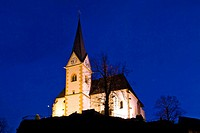Maria Woerth Church, pilgrimage site in Carinthia, Austria