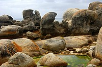 Granite boulders on Boulders Beach near Simon's Town, Western Cape Province, South Africa