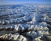 Aerial shot, Schladminger Tauern, Hohe Tauern and Niedere Tauern Ranges, East Central Alps, Styria, Austria, Europe