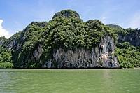 Limestone rocks, Phang Nga National Park, Bay, Andaman, Thailand, Asia