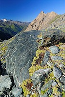 Rock formation, National Park Hohe Tauern, Tyrol, Austria