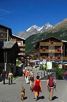 At Zermatt, Mischabel peaks, Valais Switzerland