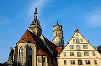 Collegiate Church Stiftskirche, Stuttgart, Baden_Wuerttemberg, Germany, Europe