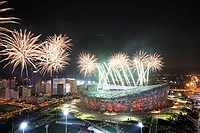 Fireworks In National Stadium,Beijing,China