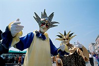 Italy _ Venice _ Masks _ Carnival _ hand_painted _ friendly appearance
