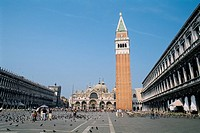 Italy _ Venice _ St Marks square _ St Mark's Campanile _ the bell tower of St Mark's Basilica