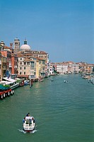 Italy _ Venice _ The Grand Canal _ left bank _ waterway