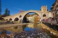 Bridge on the River Ter in Camprodon, Catalonia, Spain