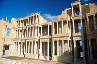 Roman Theatre rebuilt by Mussolini, Sabratha, Libya