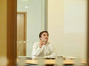 Office man sitting at desk