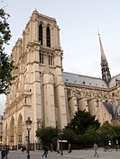 Gothic Notre Dame cathedral, Paris, France