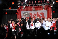Celebrations, VfB Stuttgart football club, 2007 Bundesliga champions, Stuttgart, Baden_Wuerttemberg, Germany, Europe