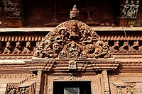 Wood carving at Bachhareshwari Temple, Pashupatinath, Kathmandu, Nepal