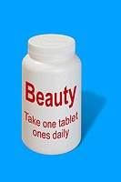Beauty as a medicine - symbolic picture