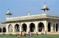 DIWAN-I-KHAS, HALL OF PRIVATE AUDIENCE, RED FORT, OLD DELHI, INDIA