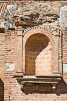 Ornate niche at Ostia Antica archaeological site, Rome, Italy, Europe