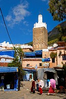 Minaret in the medina Chefchaouen Morocco