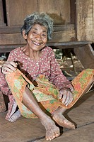 Old woman laughing, Koh Kong Province, Cambodia