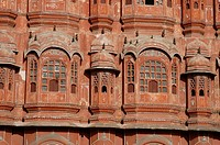 Facade of the Palace of Winds, Jaipur, Rajasthan, India