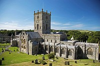 St. David's Cathedral, St. David's, Pembrokeshire, West Wales, UK