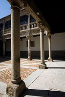 Plateresque courtyard of Palace of the Counts of Polentino, Avila. Castilla-Leon, Spain