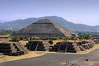 Mexico, Central America, America, Ruins, Teotihuacan, UNESCO, World heritage site, Avenue of the Dead, Sun Pyramid, So