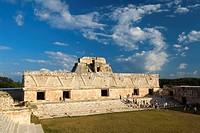 Mexico, Yucatan, Uxmal, Cuadrangulo de las Monjas (Nuns´ Quadrangle), eastern building