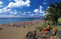Lanzarote, Canaries, Canary islands, island, Spain, Europe, outside, daytime, Playa Blanca, Puerto del Carmen, beach,