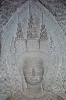 Devata relief, Angkor Wat main temple, Cambodia