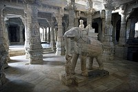 India, State of Rajasthan, Ranakpur Temple, Asia, travel, January 2008, Jainism, Jain Religion, architecture, historic