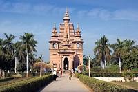 India, Uttar Pradesh, Near Varanasi city, Benares, Sarnath city, Mulgandha Kuti Vihar Temple, Asia, travel, January 20