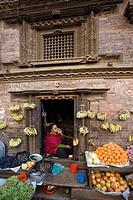 Nepal, Bhaktapur city, Kathmandu Valley, architecture, culture, UNESCO, World heritage site, Street scene, Asia, trave