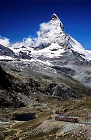 Switzerland, Europe, Matterhorn, Gornergratbahn, town, Zermatt, Canton Valais, alps, alpine, Altitude, Central Europe,