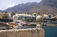 Coastal landscape, Ponta do Sol, Santo Antao, Cape Verde Islands, Africa
