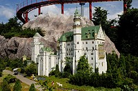 Castle Neiuschwanstein made of Lego, theme park Legoland, Guenzburg, Germany
