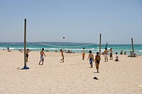 Beach Volleyball, El Arenal, Playa de Palma, Mallorca, Balearic Islands, Spain