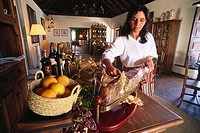 Restaurant with local Specialties, Case de Santa Maria, Old Manor, Betancuria, Fuerteventura, Canary Islands, Spain