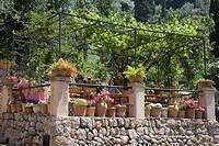 Outdoor Seating at Xelini Restaurant, Deia, Mallorca, Balearic Islands, Spain